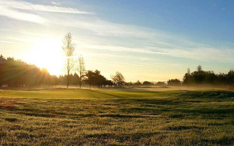 the dorset golf course sunset