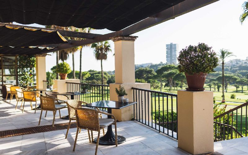 rio real golf hotel terrace